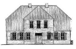Zeichnung Müllerwohnhaus