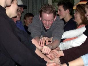 Gruppe von Jugendlichen bei der Jugendleiterausbildung