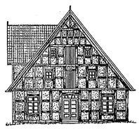 Zeichnung Giebel Gutshaus